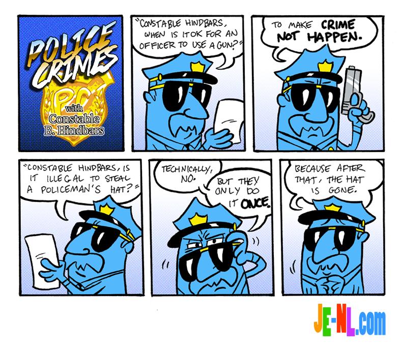 """Constable B. Hindbars says: """"don't crime!"""""""